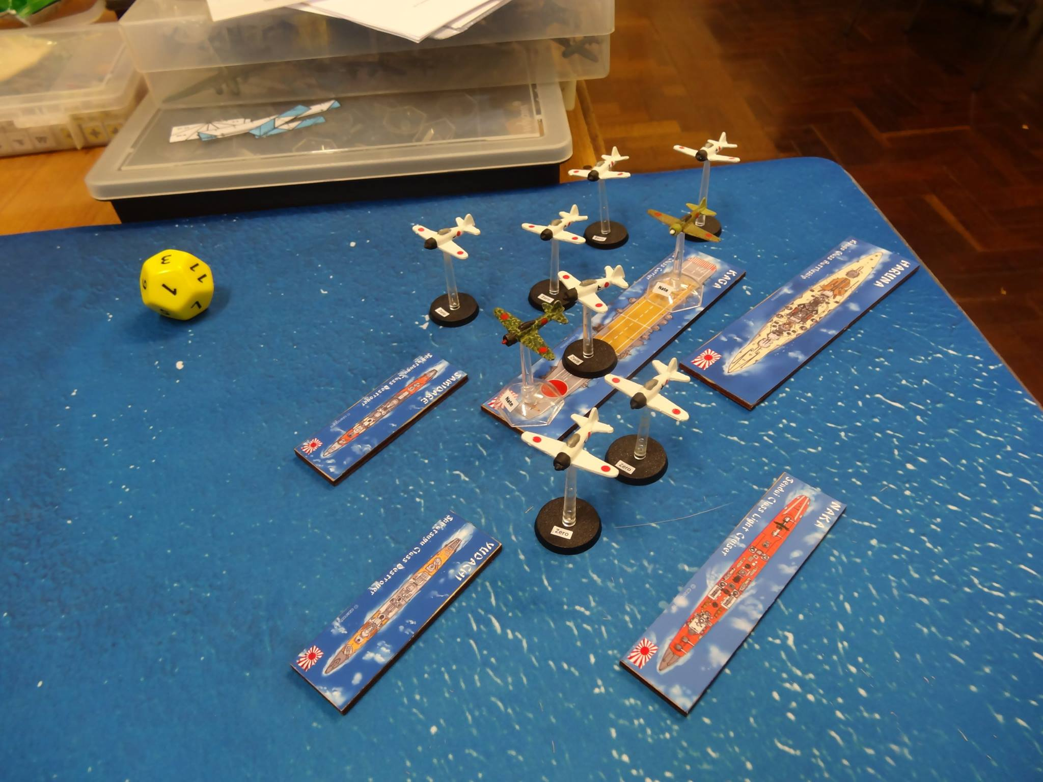 Topside Minis in Action with 1/300 scale planes